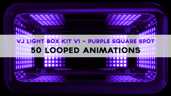 Vj Light Box Kit V1 - Circular Patern Square Spot Pack - 2