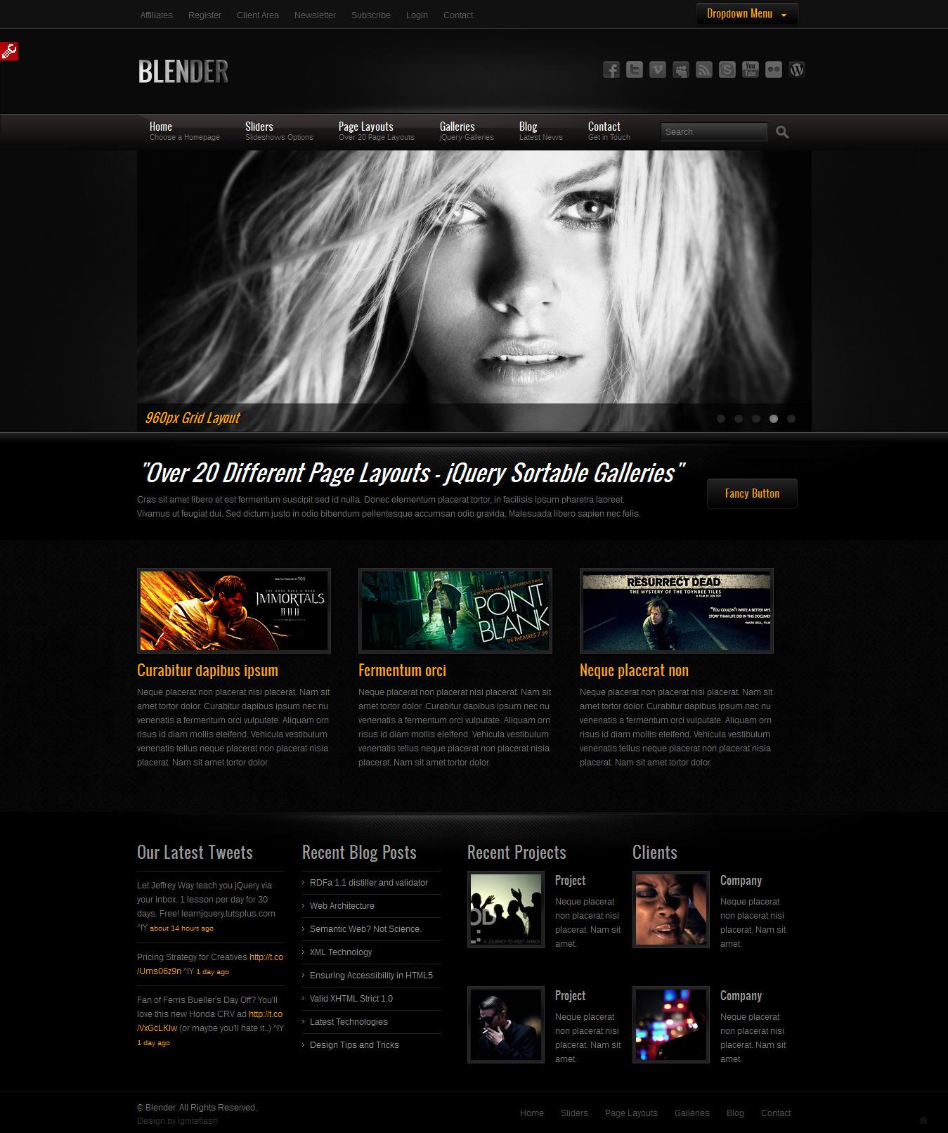 Blender HTML Portfolio Template