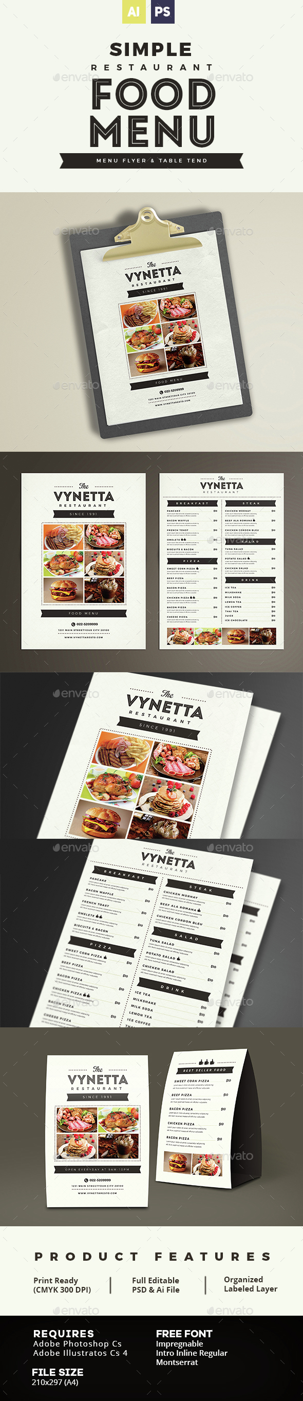 Menu Templates From GraphicRiver (Page 25) Image Preview Food Menus?pageu003d25tempafdu003d73viewu003dlist.  How To Make A Restaurant Menu On Microsoft Word How To ...  How To Make A Food Menu On Microsoft Word