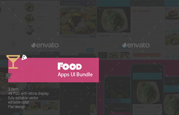 Food Apps UI Bundle  (User Interfaces)