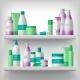 Female Cosmetics on Shelves