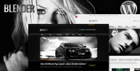 ThemeForest Blender Wordpress Portfolio Theme 639695