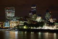 London skyscrapers skyline view illuminated at night