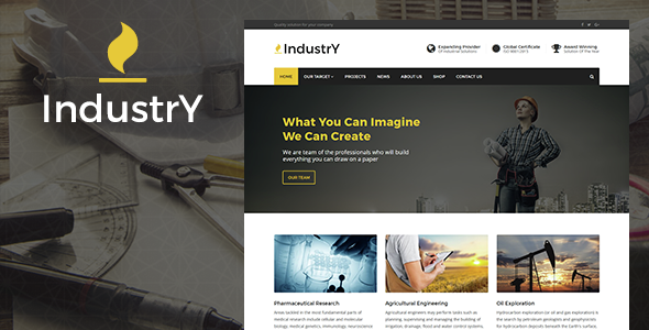 Download Industry - Factory, Company And Industry WP Theme nulled download