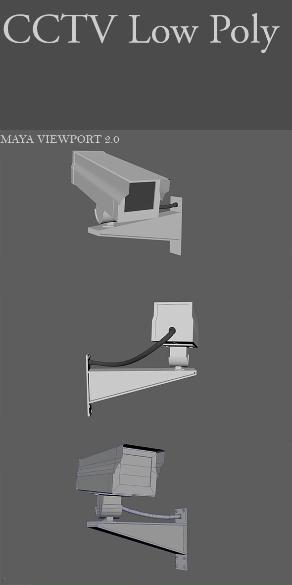 CCTV Low Poly - 3DOcean Item for Sale
