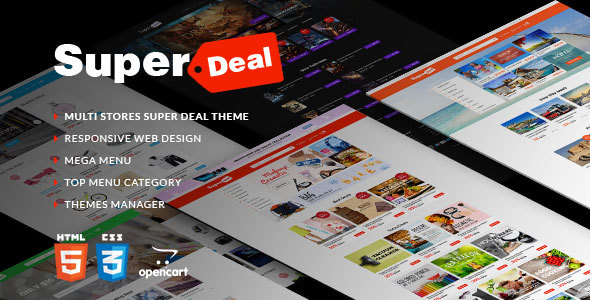OpenCart 2.2 Theme Super Deal Marketplace
