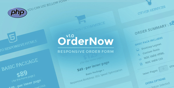 OrderNow- Responsive PHP Order Form