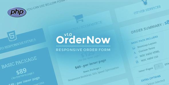 Download OrderNow- Responsive PHP Order Form
