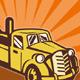 Tow Wrecker PickupTruck Retro