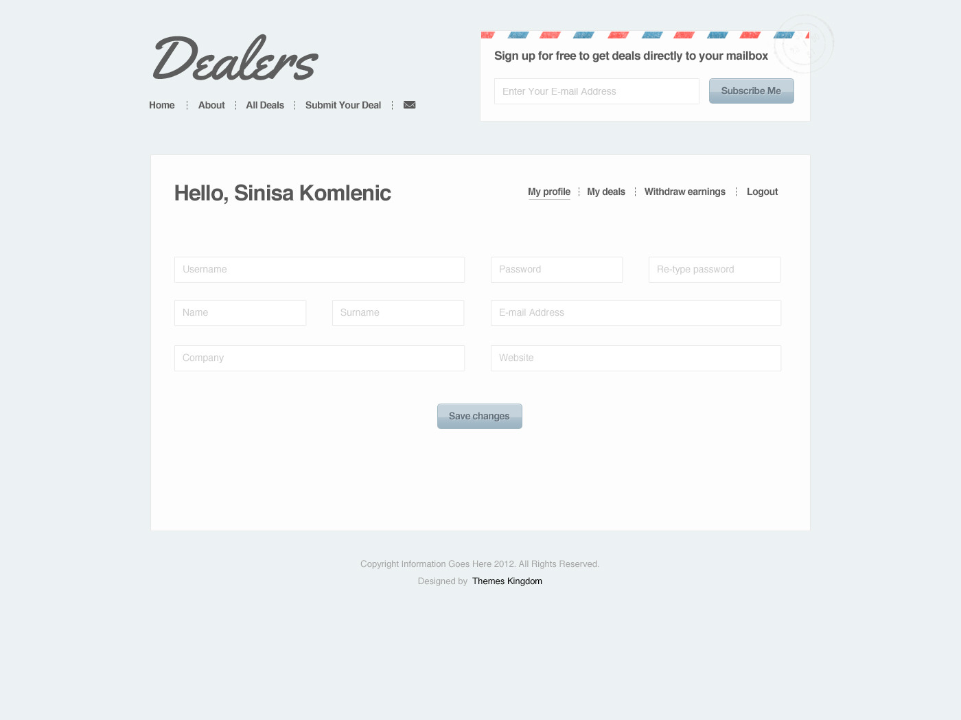 Dealers - Daily Deals WordPress Theme