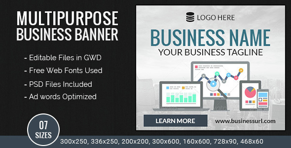 GWD | Business HTML5 Ad Banners - 07 Sizes