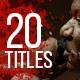 20 Trailer Blood Titles