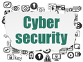 Safety concept: Cyber Security on Torn Paper background