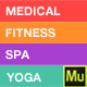 "Medical  <hr/> <p> Spa</p> <hr/> <p> Yoga & Fitness Muse Landing Page Template"" height=""80″ width=""80″></a></div> <div class="