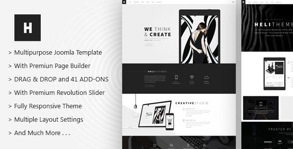 Heli - A Creative Multipurpose Joomla Template