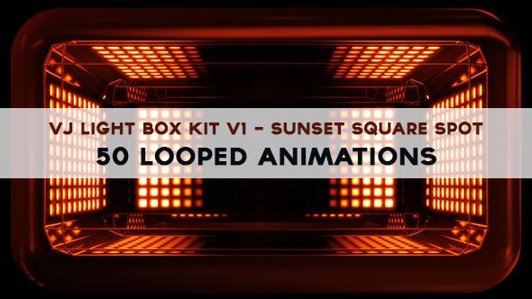 Vj Light Box Kit V1 - Circular Patern Square Spot Pack - 3