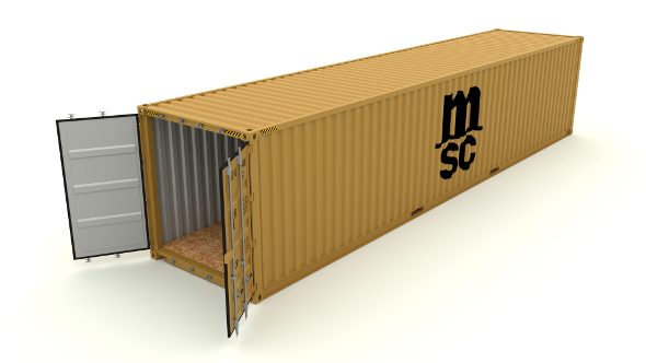 Shipping Container MSC - 3DOcean Item for Sale