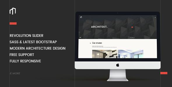 ARCHITEKT - Architecture Bootstrap Template