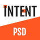 Intent — MultiPurpose Business/Personal Portfolio PSD Template