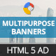 GWD | Multipurpose HTML5 Ad Banners - 07 Sizes