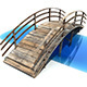 Low Poly Old Wooden Bridge