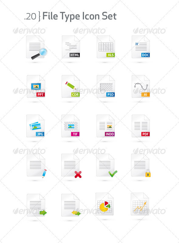 GraphicRiver Document and File Type Icon Set 1495655