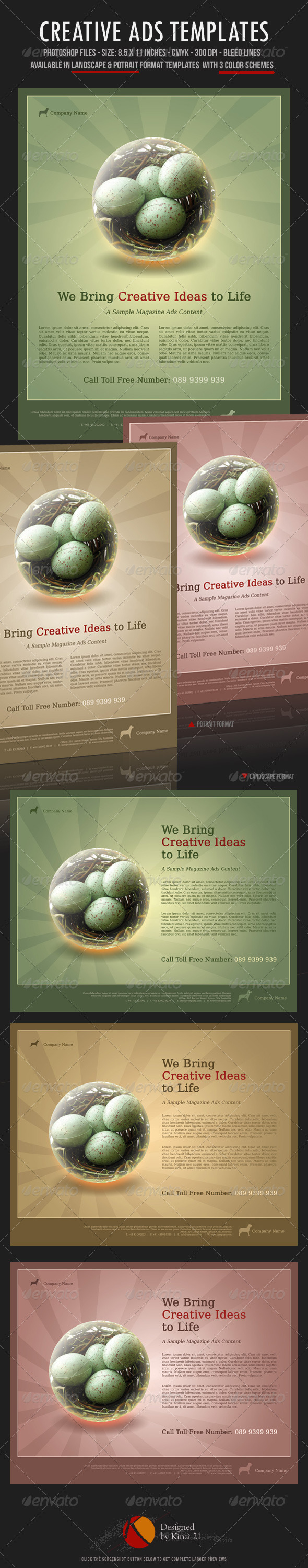 Creative Ads Templates - Corporate Flyers
