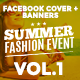 Facebook Covers and Banners - Fashion Summer Event