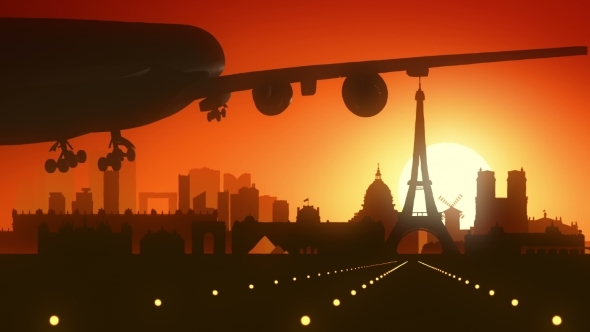 Download Paris Eiffel Airplane France Travel Background  nulled download