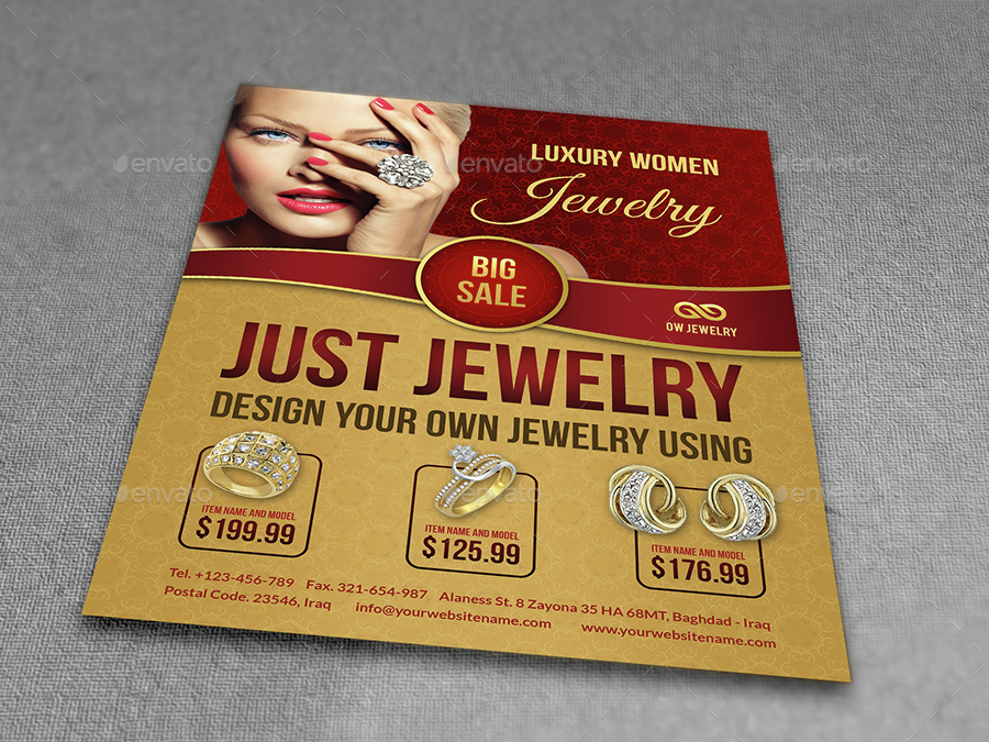 Jewelry Flyer Templates by OWPictures | GraphicRiver