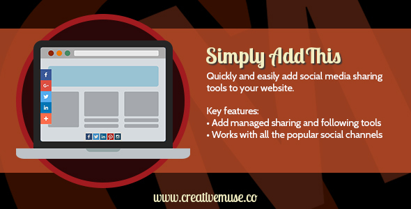 Simply AddThis Sharing Widget for Adobe Muse