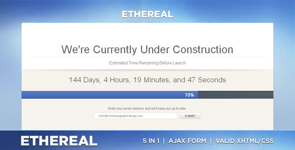 Ethereal - Under Construction XHTML/CSS