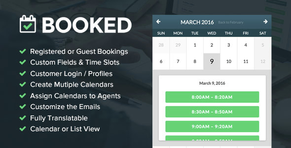 Booked Appointments - Appointment Booking for Mentor WordPress Theme