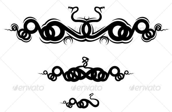 Isolated snakes as a frame or sign