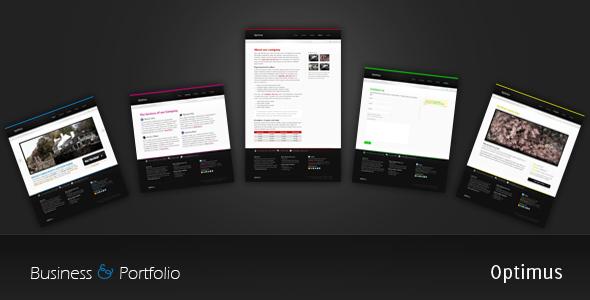ThemeForest Optimus Business and Portfolio 59071
