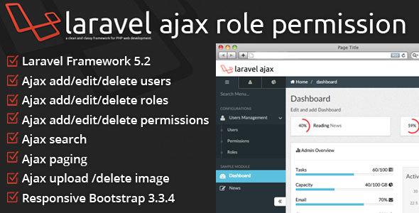 YEP Laravel CRUD Ajax+Role Permission +Upload Ajax + REST API