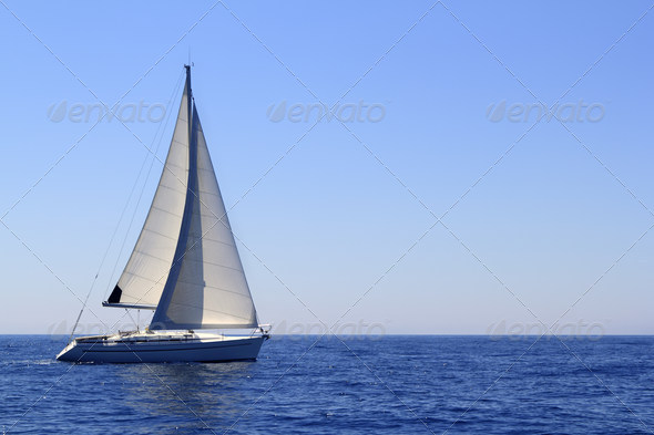 Stock Photo - PhotoDune beautiful sailboat sailing sails blue Mediterranean 1503691
