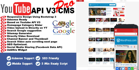 Download Youtube API V3 CMS PRO