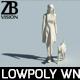 Lowpoly woman 001