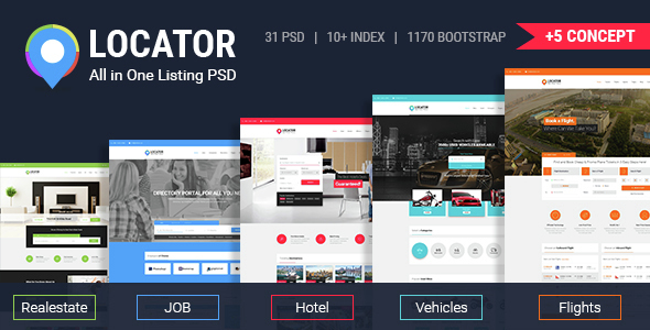 Locator All in One Listing PSD Template