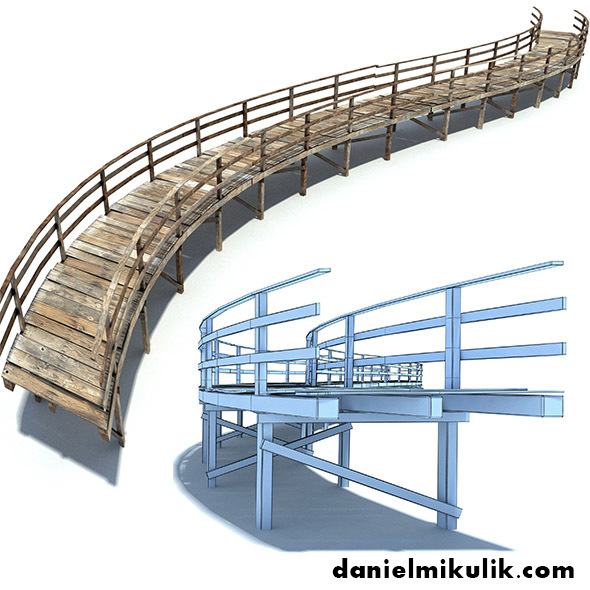 Footbridge Low Poly - 3DOcean Item for Sale