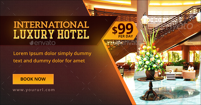 Luxury hotel banners by doto graphicriver for Hotel booking design