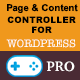 Page and content controller for WordPress - Professional Edition