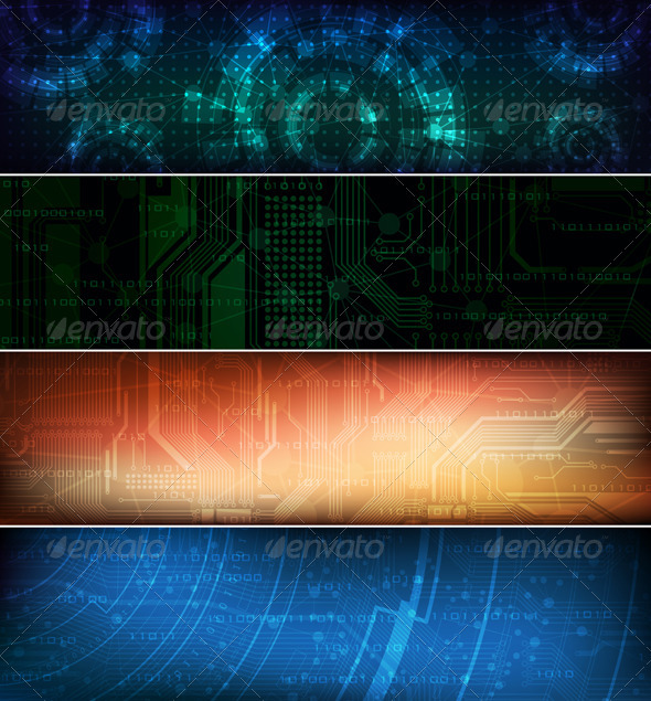 Graphic River Vector banners Vectors -  Conceptual  Technology 1501597