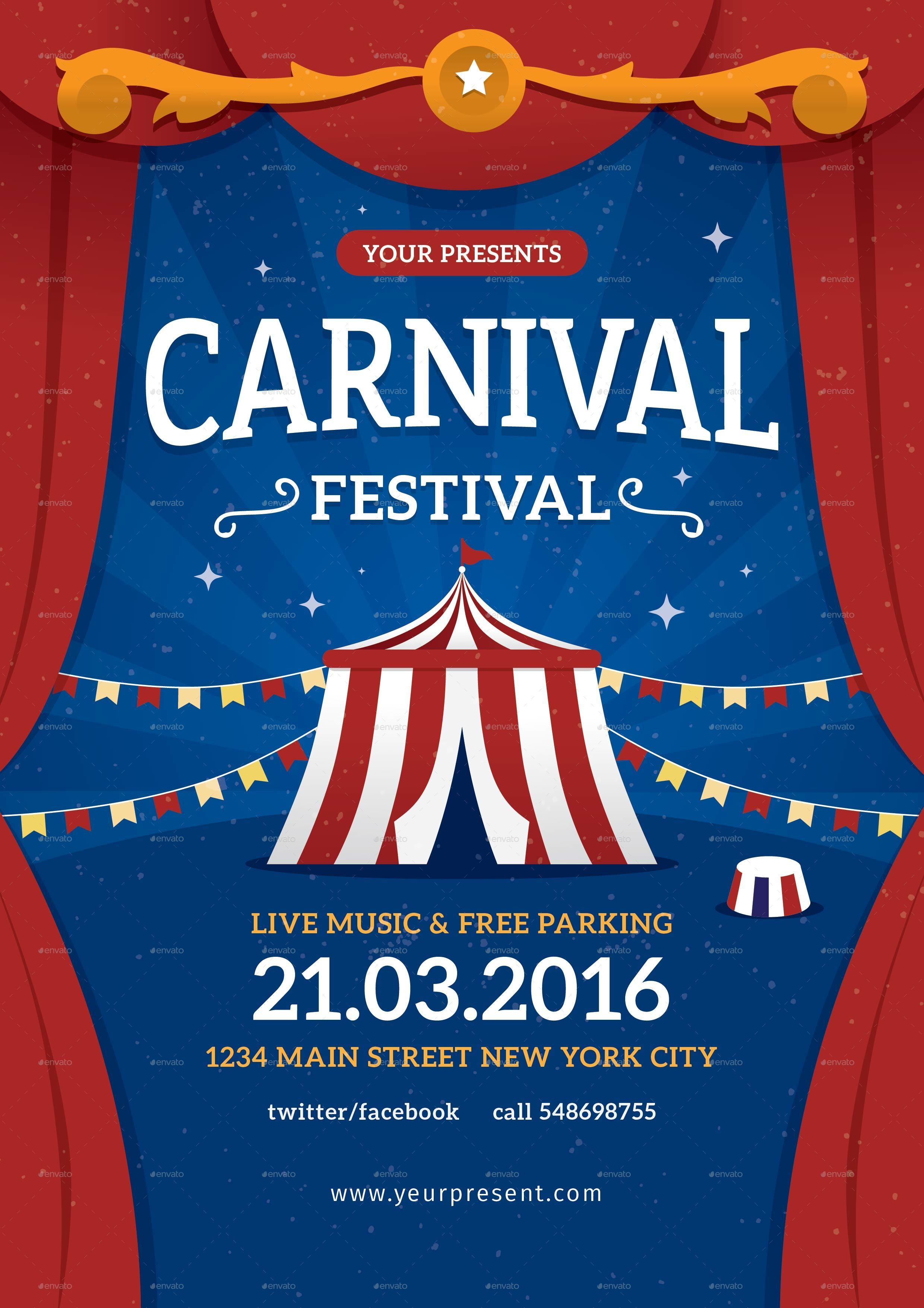 Carnival Festival Flyer / Poster by lilynthesweetpea | GraphicRiver