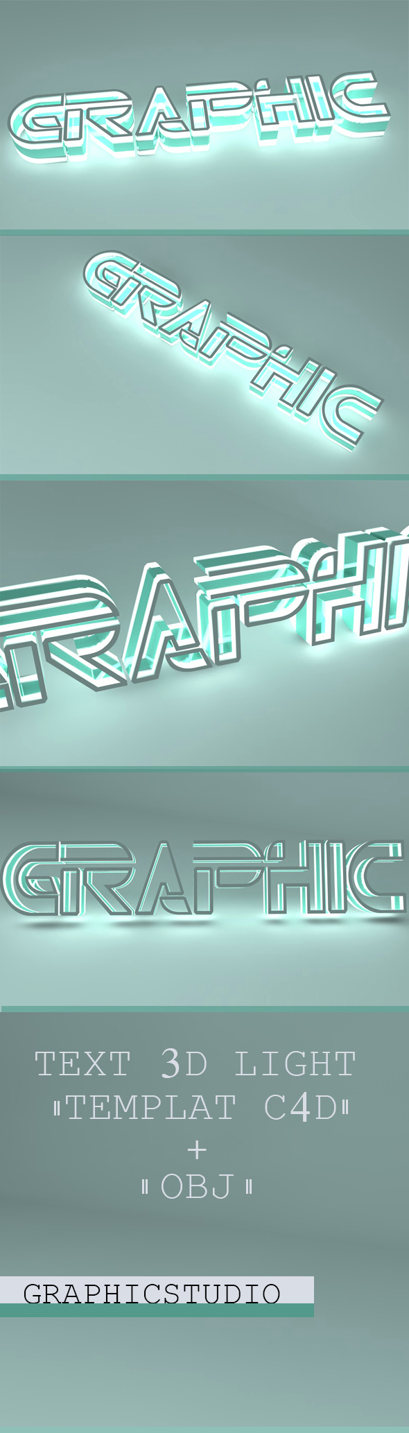 Text 3d Light - 3DOcean Item for Sale