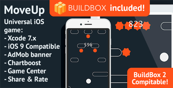 BuildBox Game Template. MoveUp: iOS, Easy Reskin, AdMob & Chartboost - CodeCanyon Item for Sale