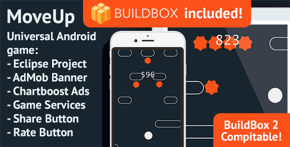 BuildBox Game Template. MoveUp: Android, Easy Reskin, AdMob & Chartboost - CodeCanyon Item for Sale