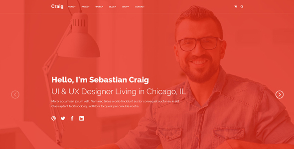 Download Craig - Creative Services | Portfolio | Personal Landing Page nulled download