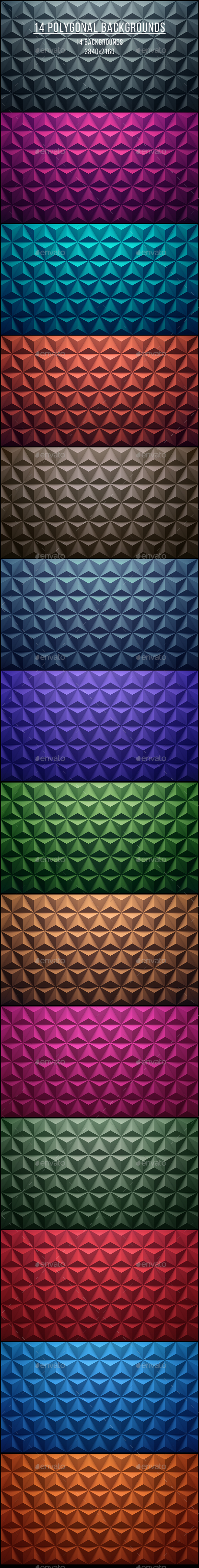 14 Polygonal Backgrounds